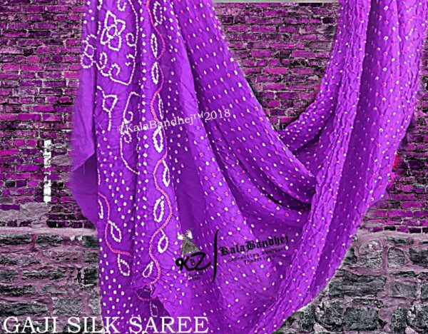 Megenta Gaji Silk Saree